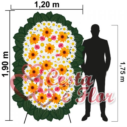 Coroa de Flores Grande Premium