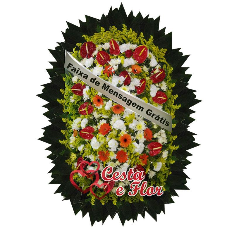 Top Coroa de Flores Velório Memorial - Floricultura Cemitério ZE72