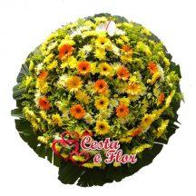 Coroa de Flores Pêssego