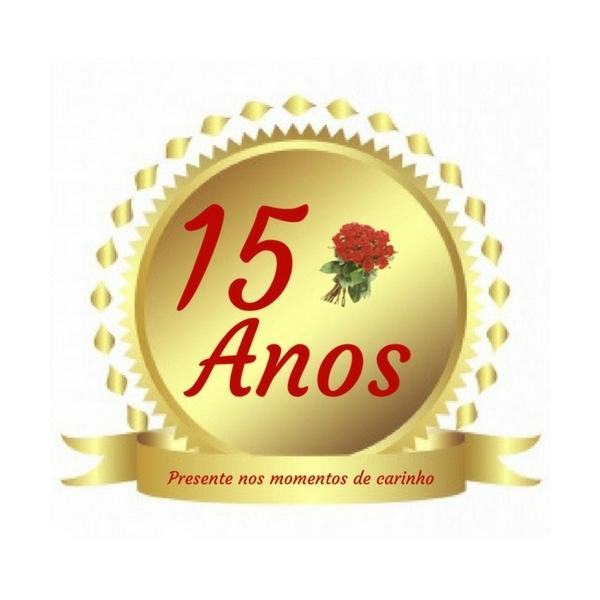 Selo Comemorativo Floricultura Cesta e Flor 15 anos