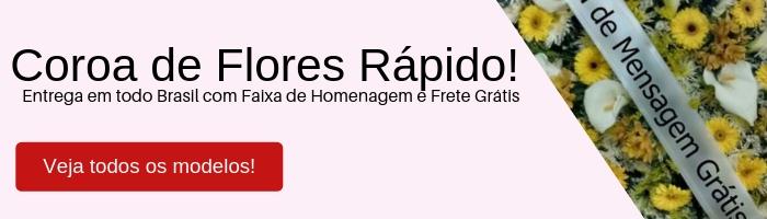 Coroa de Flores Rápido! Entrega em todo Brasil
