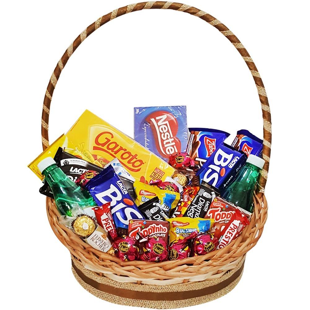 cesta de chocolates muito bom floricultura cesta e flor