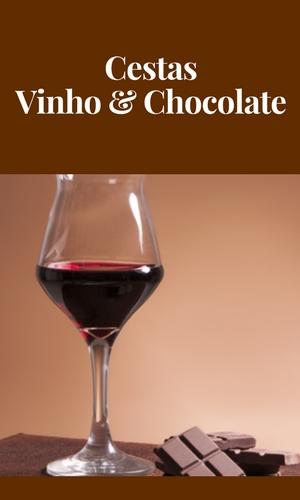 Cestas Vinho e Chocolate