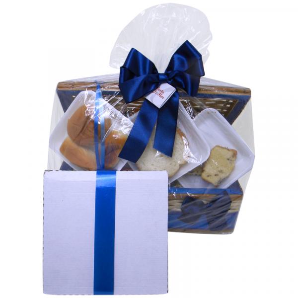 Cesta de Café da Manhã especial blue com kit