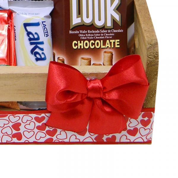 Cesta de Chocolate desejos detalhe