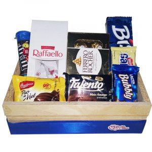 Cesta de Chocolate para Homens