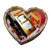 Cesta Vinho e Chocolates Love