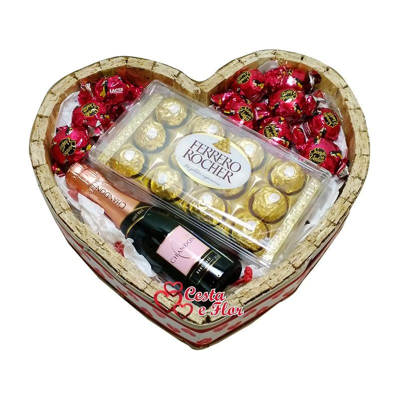 Cesta de Chocolate Chandon Amore