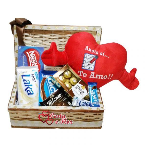 Cesta de Chocolate Delicias de Amor