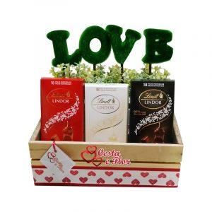 Cesta de Chocolate Delícias Love
