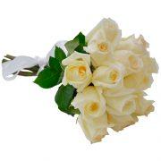 Buque 12 rosas brancas