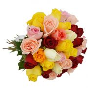 Buque 36 Rosas Coloridas