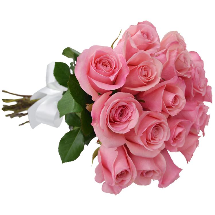 Buque com 18 rosas cor de rosa