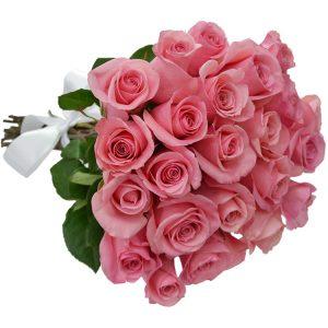 Buque 24 rosas cor de rosa