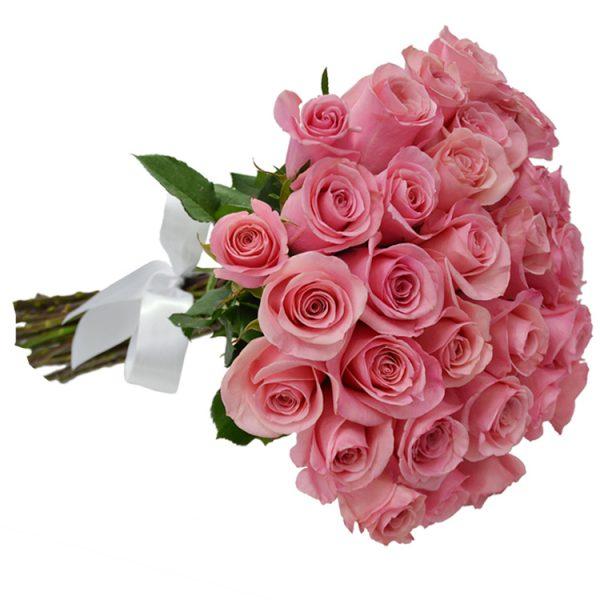 Buque com 30 rosas cor de rosa