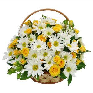 Cesta de Flores Prosperidade